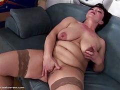 Ultra-kinky mature not mom gets going knuckle deep from succulent female
