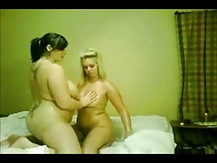 2 Crazy phat Plump Lesbos GF's massaging their  bods