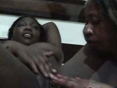 Bedroom action with two hot and nasty African lesbians