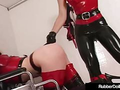 Latex Nurse RubberDoll Experiments On Mental Patient K-La!