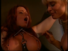Nina Hartley and a meaty boobies sandy-haired into restrain bondage and Bondage & discipline